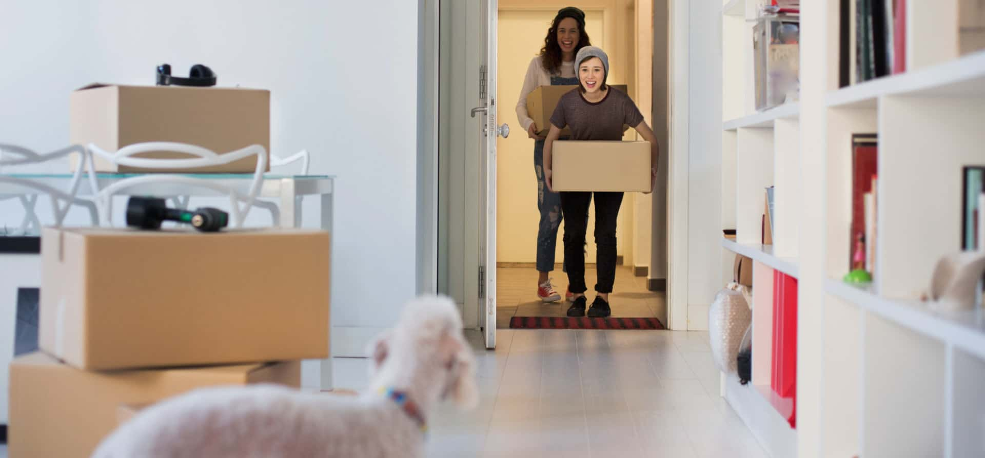 Tenants moving into their new home
